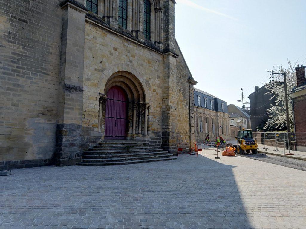 Les travaux entrée Saint-Quentin